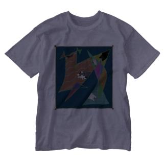 猫かわいい Washed T-shirts