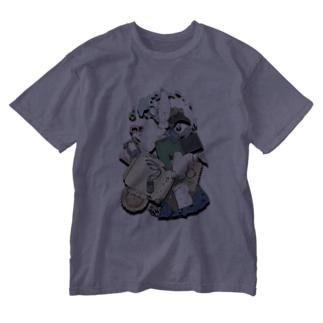 破壊の軌跡 Washed T-shirts
