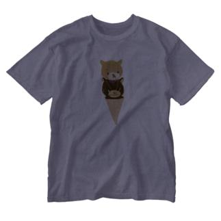 くまのマークとマクセニ アイス Washed T-shirts