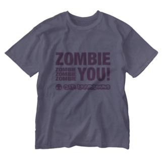 Zombie You! (pink print) Washed T-shirts