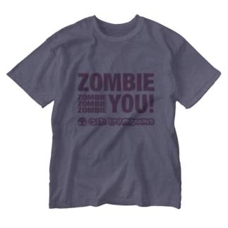 KohsukeのZombie You! (pink print) Washed T-shirts