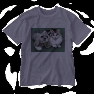 kinako-japanのチャチャちゃんとすももさん Washed T-shirts