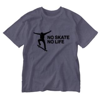 NO SKATE NO LIFE 黒ロゴ Washed T-shirts