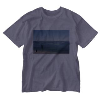 グラフィック海 Washed T-Shirt