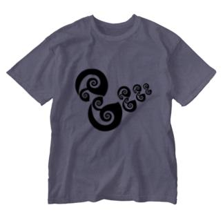 アヒルの親子 Washed T-Shirt