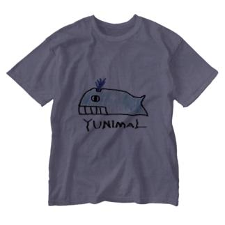 クジラ Washed T-shirts