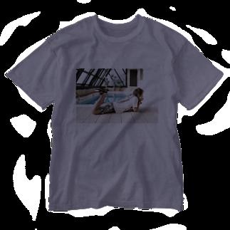 サトケンSUZURIのプール Washed T-shirts