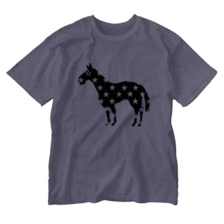 新種(星毛) Washed T-shirts