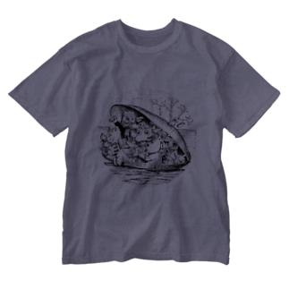 ムール貝 Washed T-shirts