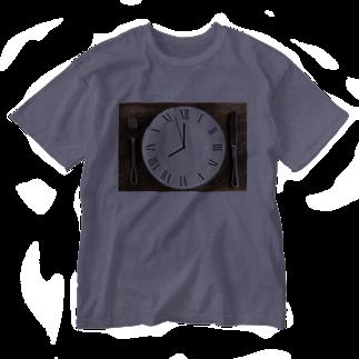 Teatime ティータイムの時間 時計 インテリア Washed T-shirts