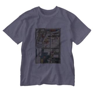 本所深川絵図 Washed T-shirts