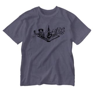 -Noir+Angelique- メモリアルイラスト柄シリーズ Washed T-shirts
