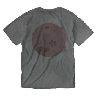 イリオモテヤマネコ 桜 Washed T-shirts