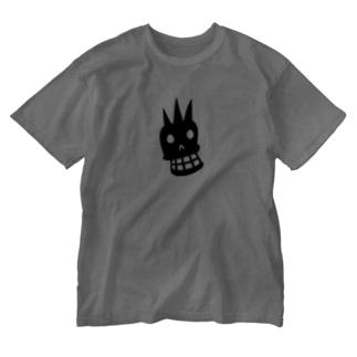 ドクロマーク Washed T-shirts