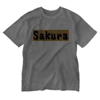 Sakura グッズ Washed T-shirts