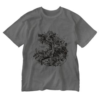 再生の庭・プレアデスの両脚 Washed T-shirts