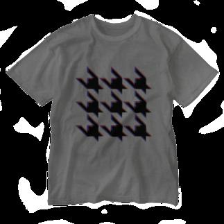 TATEYAMAのHoundtooth Washed T-shirts