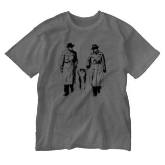 捕まったネコ(モアレ) Washed T-shirts
