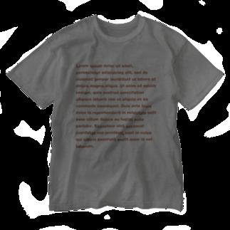 TATEYAMAのDUMMY TEXT Washed T-shirts