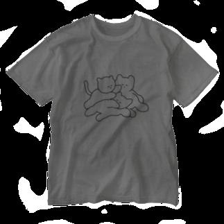 佐藤撫子のネコポリの猫 Washed T-shirts