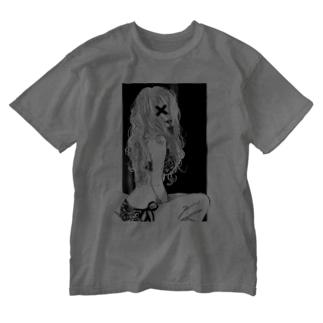 ギブミーラブ Washed T-shirts