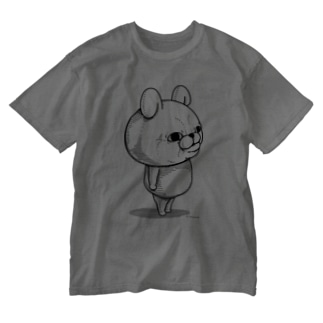 うさぎ100%リアル Washed T-shirts