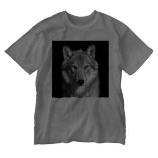 オオカミ Washed T-shirts