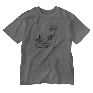 kameのONAKA SUITA Washed T-shirts