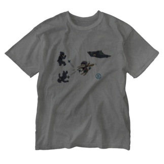 忍者に弟子入り Washed T-shirts