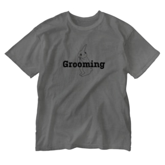 Grooming ウサギ Washed T-shirts