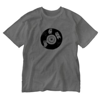 3匹のくまとレコード Washed T-shirts