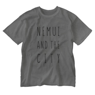 NEMUI AND THE CITY_BLACK Washed T-shirts