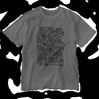 やるきないお店の食べるやるきないもの Washed T-shirts