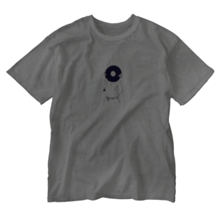 art_posca_drawingのレコード好きなあの子 Washed T-shirts
