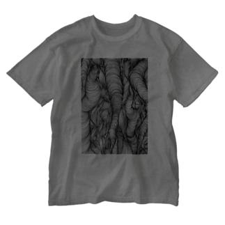 悩みの渦 Washed T-shirts