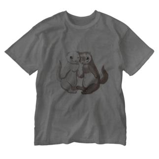 ポニョ蘭丸1 Washed T-shirts