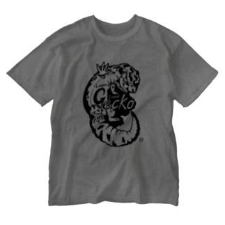 レオパードゲッコーくん(nnnゲッコーズ) Washed T-shirts