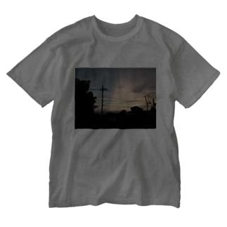 夕焼けの切れ目 Washed T-shirts