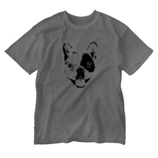 フレンチブルドッグのビビくん Washed T-shirts