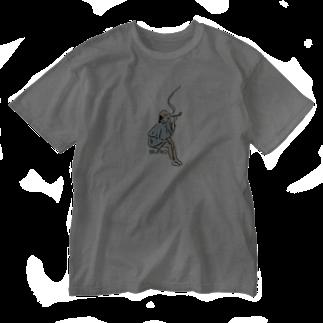 SLOW9のスバラシイメン Washed T-shirts