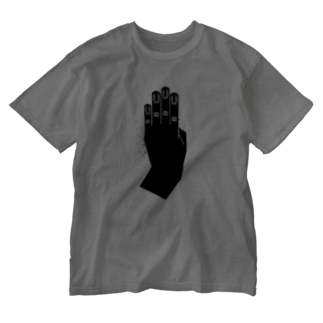 8888のblack hand Washed T-shirts
