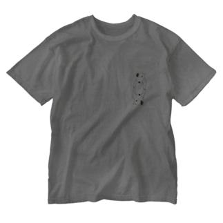 ふせで待ち構える Washed T-shirts