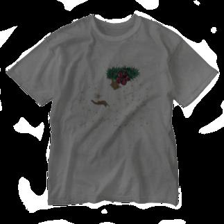 Hilo Diego Design Shopのハワイ フラダンス Tシャツ フラワーガール Washed T-shirts