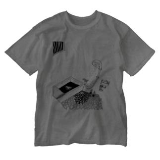 かもめA-Tシャツ Washed T-shirts