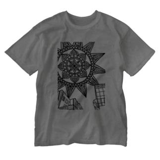 sun -ビルの隙間から- ウォッシュT Washed T-shirts