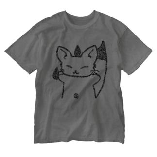 はむぎつね・インビジブル Washed T-shirts