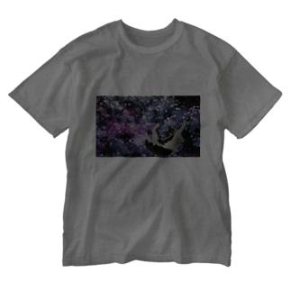 ギャラクシーとここ Washed T-shirts