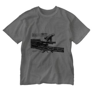 そりを引く(パズル) Washed T-shirts