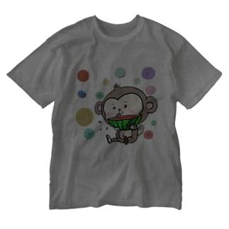 限定品*おさるのイージーくん♪ Washed T-shirts