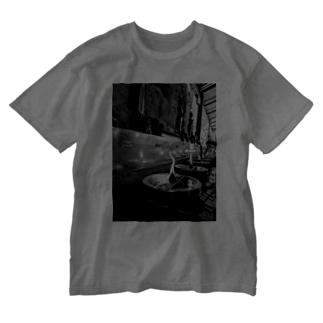 モノクロキャンドル@タイ Washed T-shirts